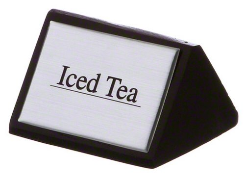 American Metalcraft SIGNIT2 Black Wood Iced Tea Tabletop Sign, 3 by 1-3/4-Inch