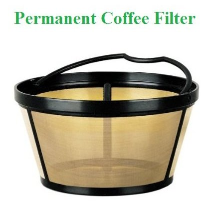 Breville Coffee Maker Gold Filter : Permanent Basket-Style Gold Tone Coffee Filter designed for Mr. Coffee 10-12 Cup Basket-Style ...