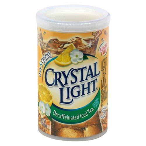 Crystal Light Iced Tea Decaffeinated Lemon Natural Flavor, 1-Ounce Canister (Pack of 6)