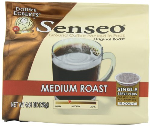 Senseo Coffee Pods, Medium Roast, 4.41 Ounce, 18 Count (Pack of 4)
