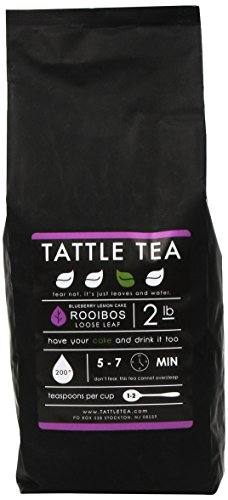Tattle Tea Blueberry Lemon Cake Rooibos Herbal Tea, 2 Pound
