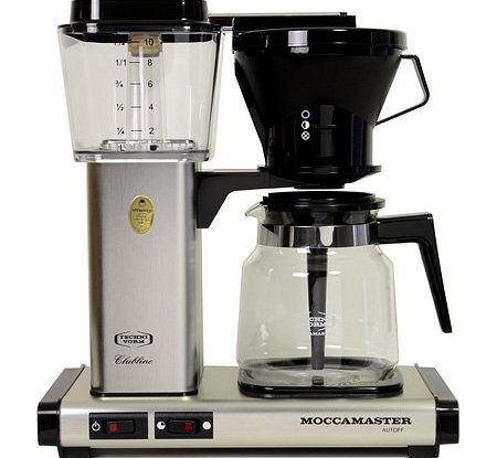 Technivorm Moccamaster Coffee Maker With Glass Carafe Brushed Silver : Technivorm-Moccamaster KB 741 10-Cup Coffee Brewer with Glass Carafe, Brushed Silver