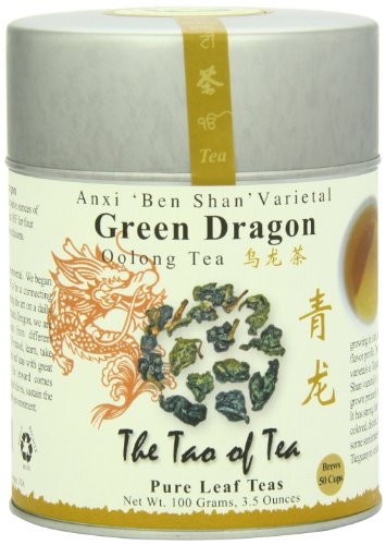 The Tao of Tea, Green Dragon Oolong Tea, Loose Leaf, 3.5 Ounce Tin