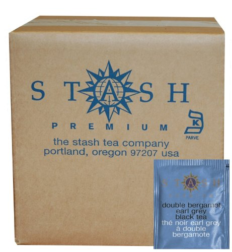 Stash Tea Double Bergamot Earl Grey Tea, 100 Count Box of Tea Bags in Foil