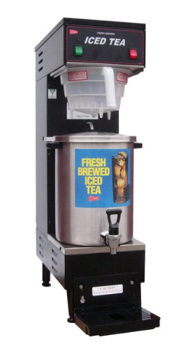 Grindmaster-Cecilware TB3 BREWER with B13T Stainless Steel Fresh Brewed Ice Tea Brewer and Dispenser, 3-Gallon, Black