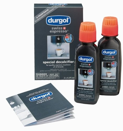 Durgol Swiss Espresso Decalcifier for All Brands High-End Espresso Machines, 4.2 Fluid Ounce Bottle, 2-Pack