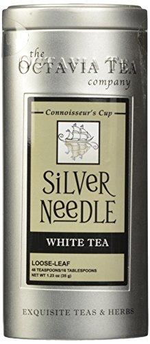 Octavia Tea Silver Needle (Organic White Tea) Loose Tea, 1.23 Ounce Tins
