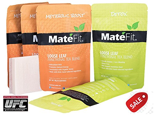 Weight Loss Tea 28 Days ULTIMATE TeaTox Detox By MateFit Is An Official Tea of UFC. Modern Antioxidant Powerhouse Infused Herbal Tea Blend with Body Cleanse and Appetite Control. Check Out More Than 22,700 User Reviews at MateFit.Me
