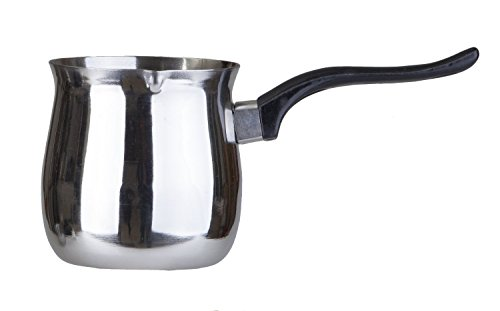 Pal Ed Stainless Steel Turkish Warmer (Finjan, Coffee Pot) (35 Oz.)