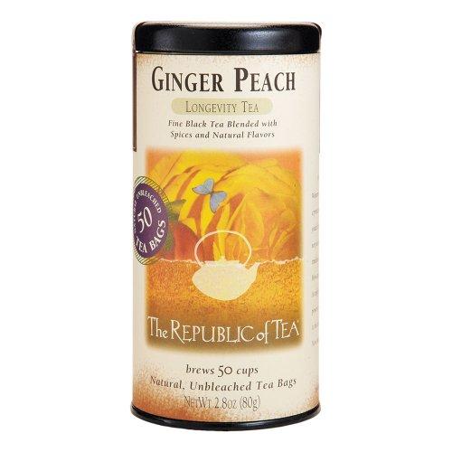 The Republic Of Tea Ginger Peach Black Tea 50 Teabags