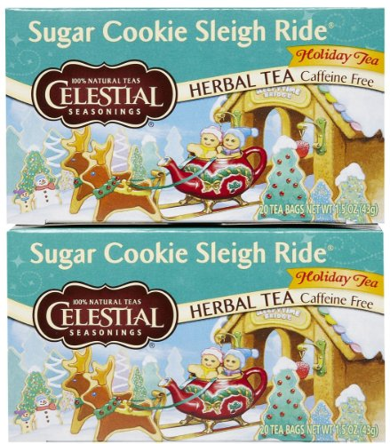 Celestial Seasonings Sugar Cookie Sleigh Ride Tea Bags, 20 ct, 2 pk