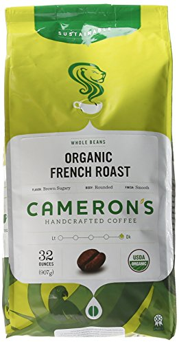 Cameron's Organic French Roast Whole Bean Coffee, 32-Ounce Bag