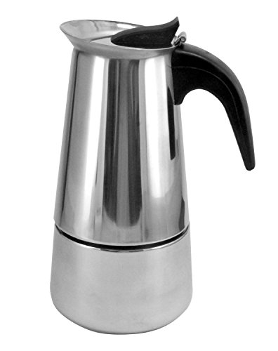 6 Cup Brew-Fresh Stainless Steel Italian Style Expresso Coffee Maker for Use on Gas Electric and Ceramic Cooktops
