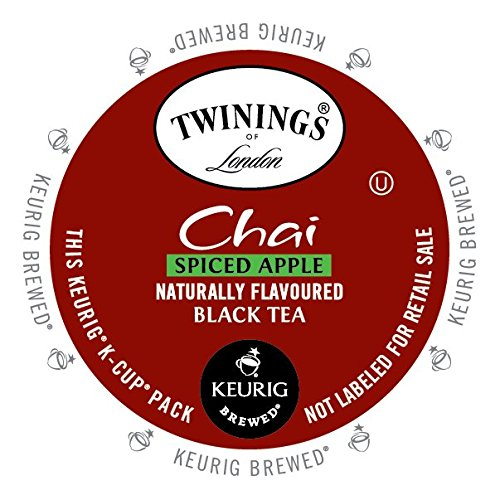 Twinings Chai Tea K-Cup, Spiced Apple, 12 Count