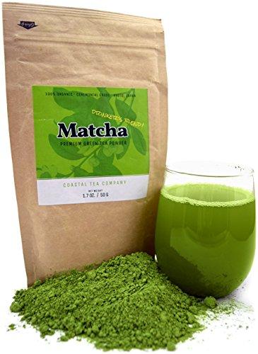 Coastal Tea Company® Japanese Matcha Green Tea Powder for Drinking, Organic Ceremonial Grade, 1.75 Ounce