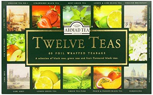 Ahmad Tea Twelve Teas, 60-Count Assorted Package