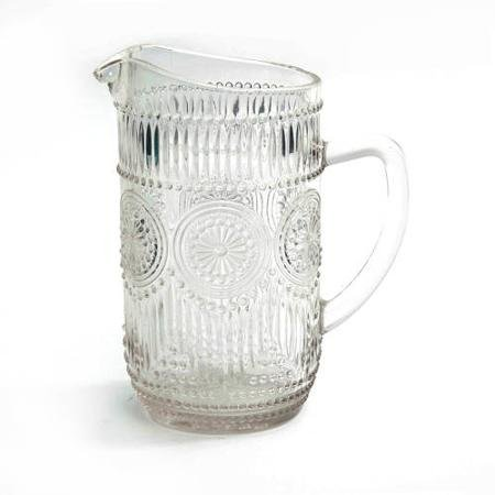 The Pioneer Woman Adeline 1.59-Liter Glass Ice Tea Water Pitcher Bar Drinkware, Clear
