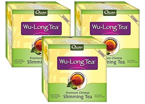 3 Boxes of Wu-Long (Oolong) Premium Slimming Tea – All Natural Diet Oolong Tea , 100% Pure and the Original