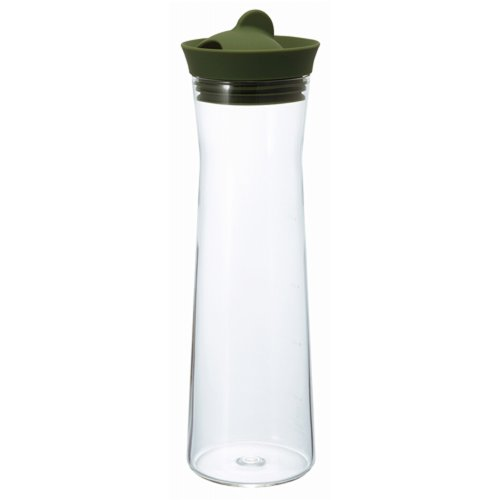 HARIO Glass Ice Water Pitcher, 1000ml, Green