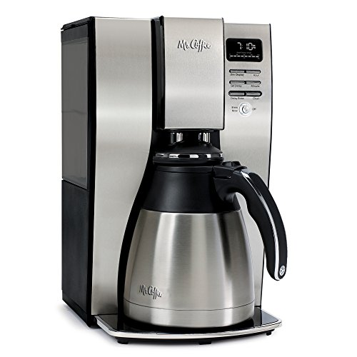 Mr. Coffee BVMC-PSTX95 10 Cup Optimal Brew Thermal Coffeemaker, Stainless Steel