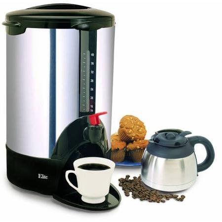 Maxi Matic Elite Cuisine 30-Cup Coffee Urn, Stainless Steel