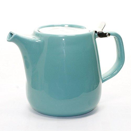 Daze Ceramic Teapot w/ Stainless Steel Lid & Infuser – #1 Best Teapot To Brew Loose Leaf Tea (700ml / 24oz, Turquoise)
