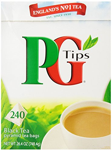 PG Tips Black Tea, Pyramid Tea Bags, 240-Count Boxes Pack of 2