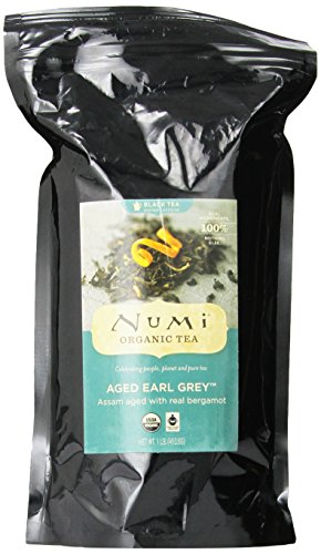 Numi Organic Tea Aged Earl Grey, Italian Bergamot Black Tea, Loose Leaf, 16 Ounce Bag