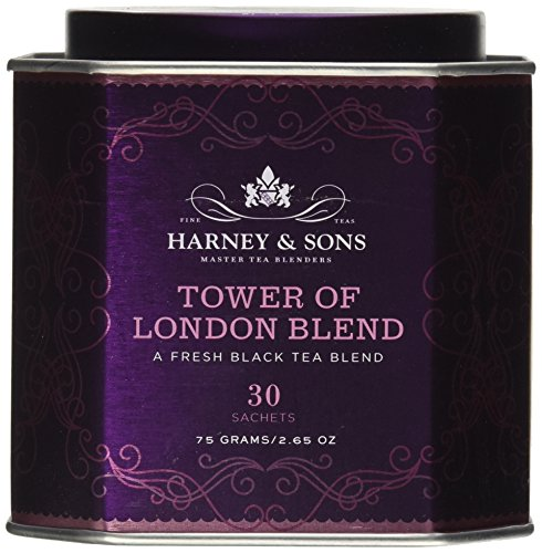 Harney and Sons Tower of London, Flavored Black 30 Sachets per Tin