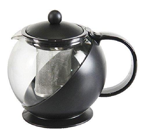Om Joy Heat Tempered Glass Tea Pot with Removable Infuser: Random Color