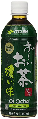 Ito En Tea Unsweetened Beverage, Oi Ocha Dark Green, 16.9 Ounce (Pack of 12)