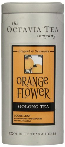Octavia Tea Orange Flower Oolong Tea, Loose Tea, 2.12 Ounce Tin