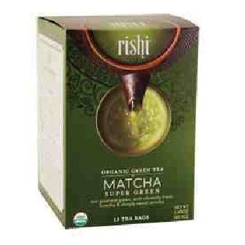 Rishi Tea – Organic Matcha Super Green, 15 tea bags