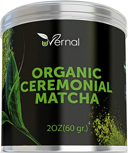 Organic Ceremonial Matcha – Best Taste – USDA Organic – Energy Booster – Green Tea Powder (2oz)