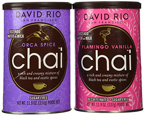 David Rio Chai Mix, Sugar Free 2 Caniser Variety Pack, 11.9 Oz