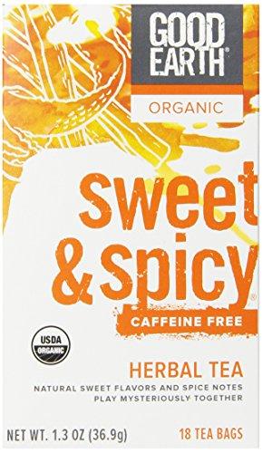 Good Earth Organic Sweet & Spicy Caffeine Free Herbal Tea, 18 Tea Bags (Pack of 6)