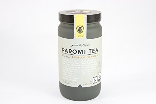 PAROMI TEA Oolong Lemon Ginger Tea, Full-Leaf, 15 Sachets in 1.6 oz Bottle