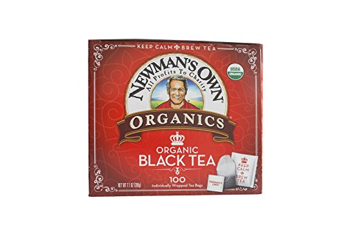Newman's OwnOrganics Royal Tea, Organic Black Tea, 100 Individually Wrapped Tea Bags, 7.05-Ounce Boxes (Pack of 5)