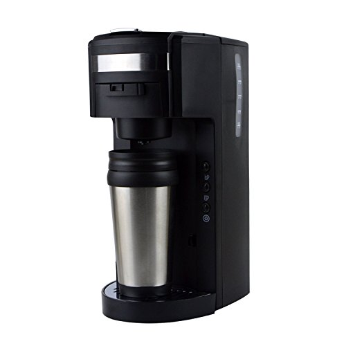 2-in-1 K-cup capsule machine and Ground Coffee Single Serve Coffee Maker with Hydroforce Extraction System and Adjustable Dispenser