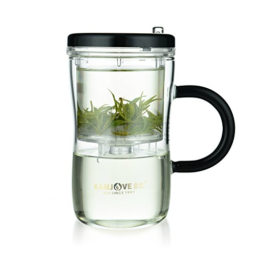 KAMJOVE Glass Gongfu Press Art Tea CUP Teapot with filter GR-02 500ml heat-resistant glass Manually Blow-molded