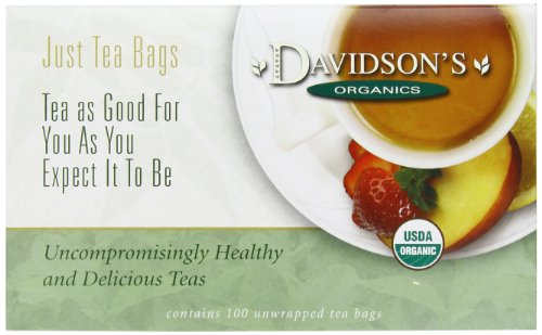 Davidson's Tea White Peach, 100-Count Tea Bags