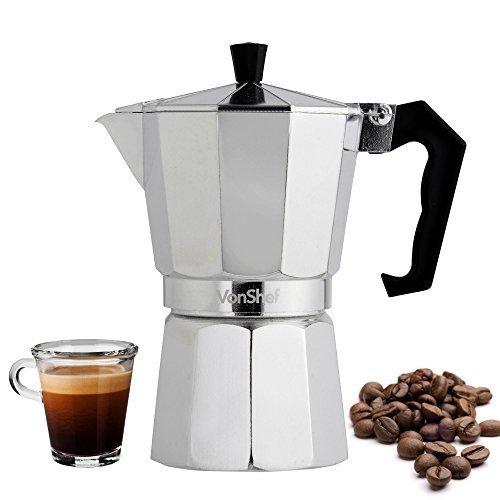 VonShef 6 Cup Italian Espresso Coffee Maker Stove Top Macchinetta