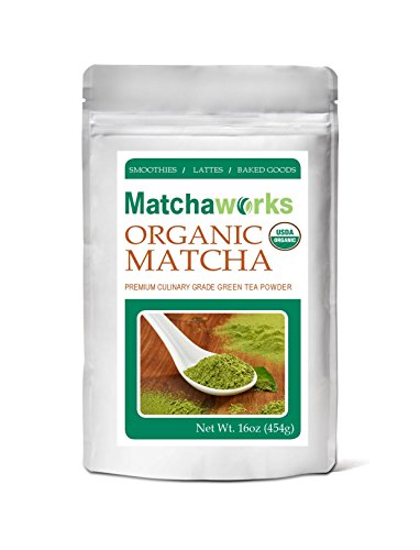 Matchaworks USDA Certified Organic Culinary Grade Matcha Green Tea Powder 16oz