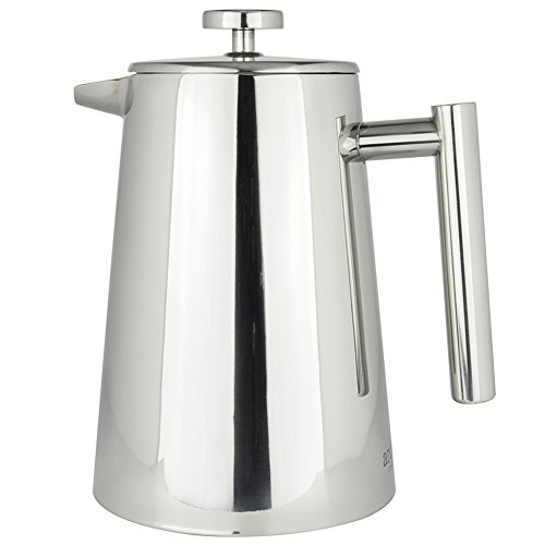 French Press Coffee Maker by Ardito Coffee AC1LSSCP 1 Liter Double Wall Stainless Steel