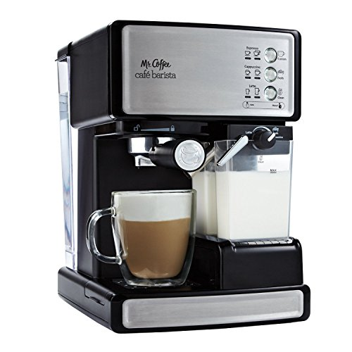 Mr. Coffee Cafe Barista Espresso/Cappuccino/Latte Maker with Automatic Milk Frother, BVMC-ECMP1000 (Certified Refurbished)
