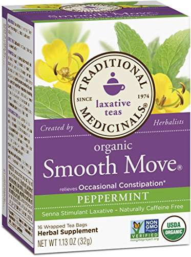Traditional Medicinals Organic Smooth Move Peppermint Tea, 16 Tea Bags