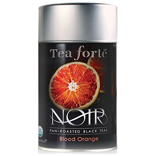 Tea Forte Noir BLOOD ORANGE Organic Loose Leaf Black Tea, 2.82 Ounce Tea Tin
