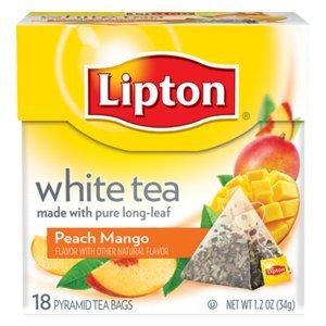 Lipton White Tea Island Mango Amp Peach Pyramid Tea Bags 20