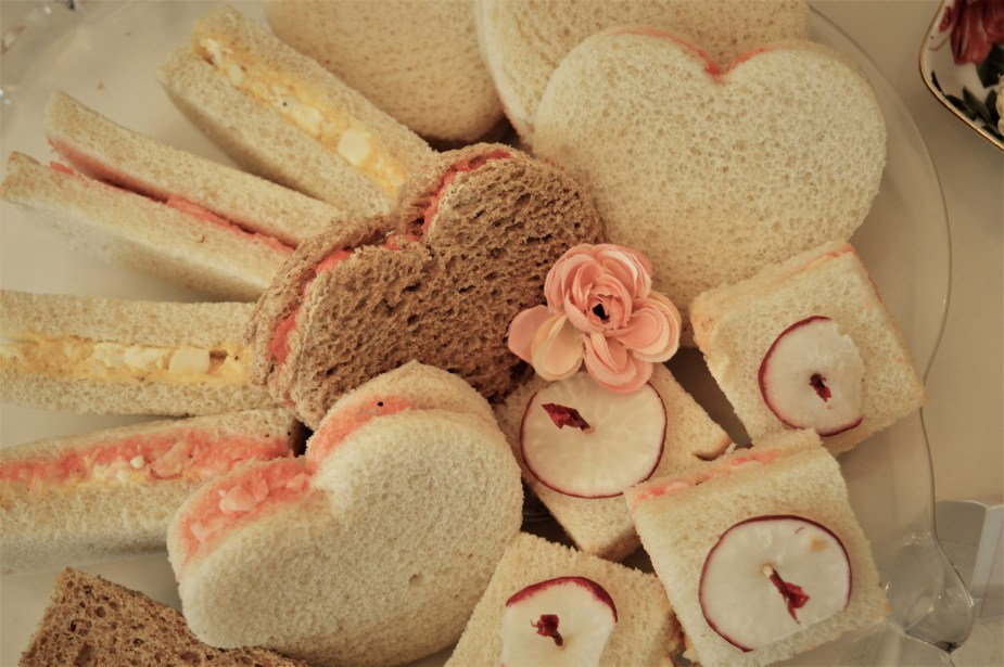 Heart sandwiches for Valentine or Galentine