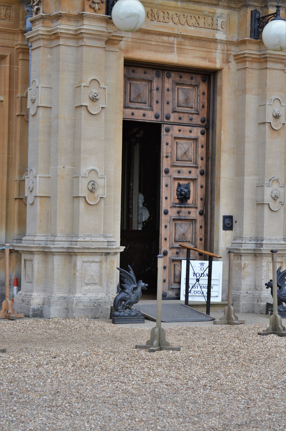 famous doorway to downton abbey